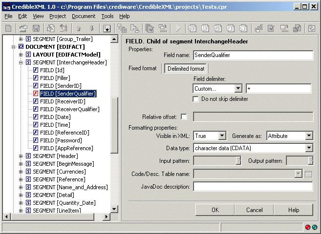 CredibleXML 2.1 (.NET Edition) Screenshot 1