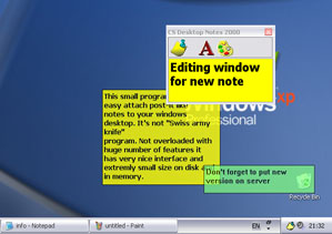 CS Desktop Notes Screenshot