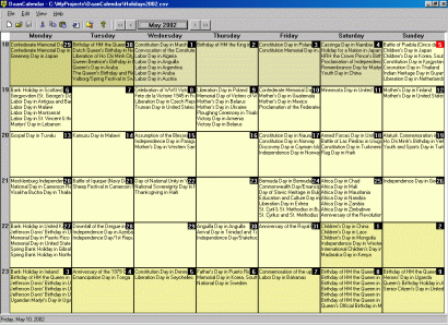 DaanCalendar Screenshot