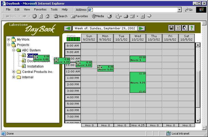 DayBook Screenshot