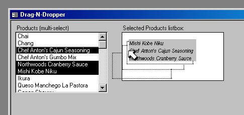 Drag-N-Dropper for Microsoft Access Screenshot