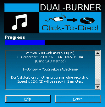 Dual-Burner for MP3 Players Screenshot