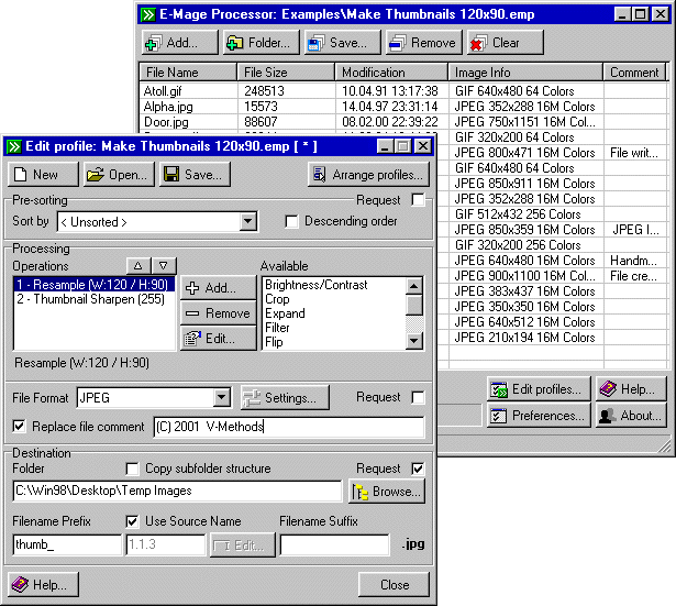 E-Mage Processor Screenshot