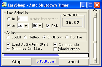 Auto Shutdown Timer - EasySleep Screenshot