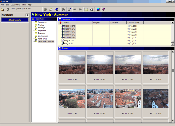 eDocPlus document management software Screenshot