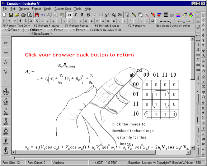 Equation Illustrator V Screenshot