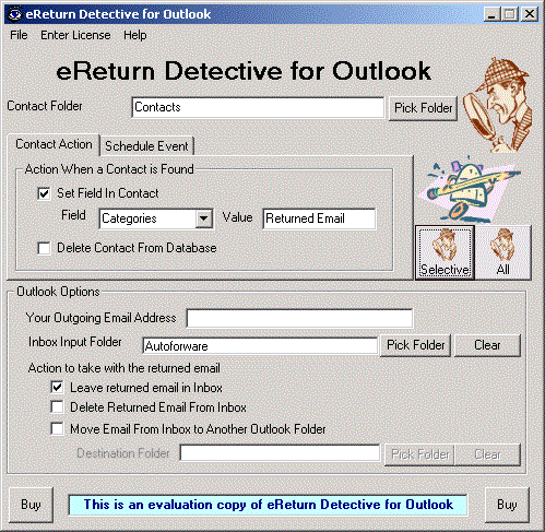 eReturn Detective for Outlook Screenshot 1