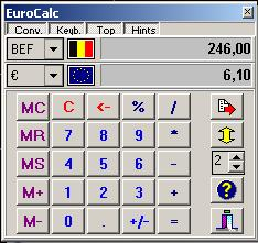 EuroCalc Screenshot