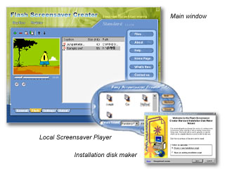 Flash Screensaver Creator Screenshot 1