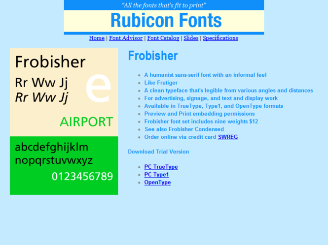 Frobisher Font TT Screenshot