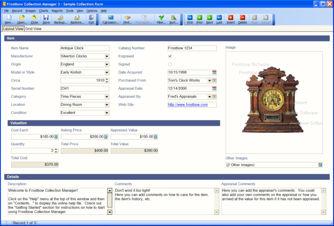 Frostbow Collection Manager Screenshot