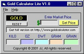 Gold Calculator Lite Screenshot
