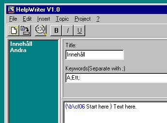 HelpWriter Screenshot
