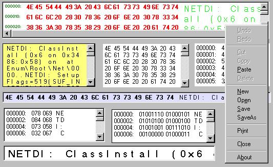 Hex Editor ActiveX Control Screenshot