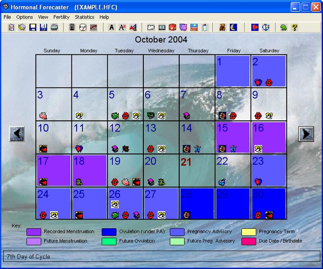 Hormonal Forecaster - Fertility Software Screenshot