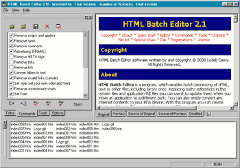 HTML Batch Editor Screenshot 1