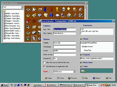 Icon extractor package Screenshot