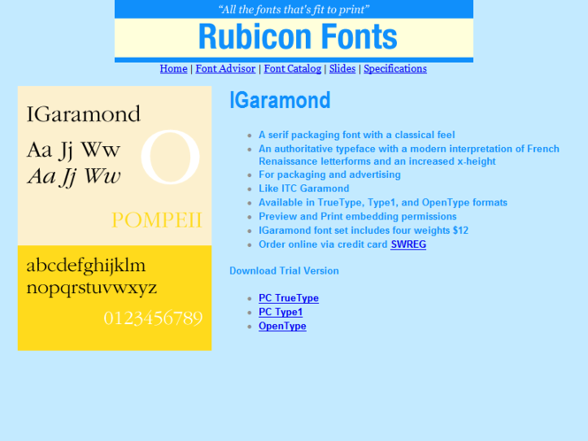 IGaramond Font TT Screenshot
