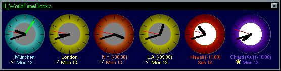 II_WorldTimeClocks Screenshot 1