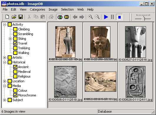 ImageDB Screenshot