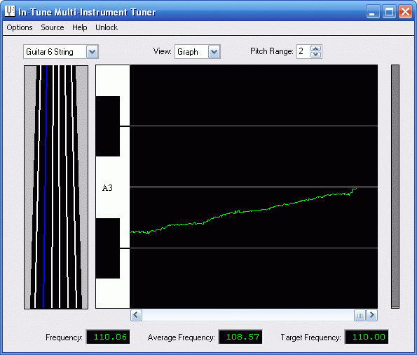 In-Tune Multi-Instrument Tuner Screenshot