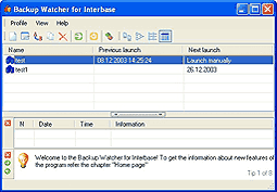 Backup Watcher for Interbase Screenshot
