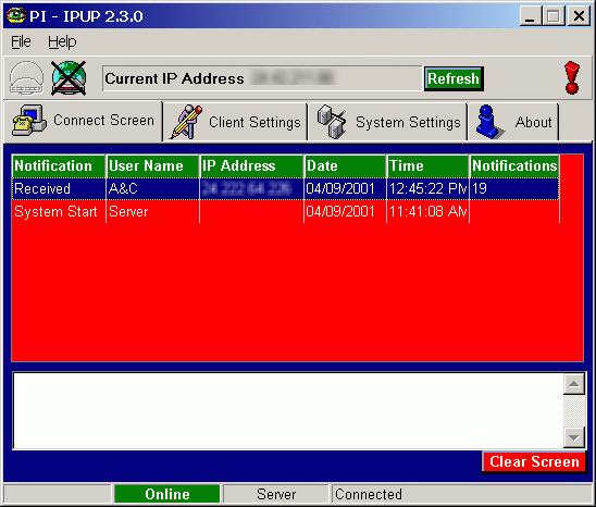 IPUP Screenshot
