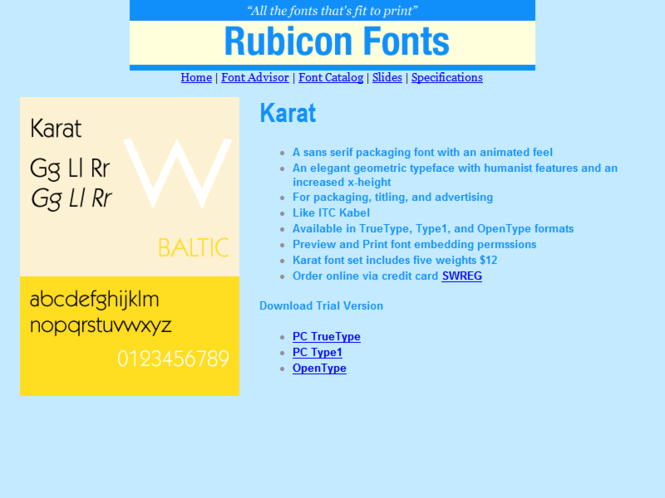 Karat Font TT Screenshot