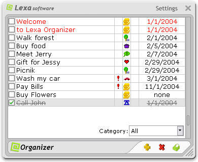 Lexa Organizer Screenshot