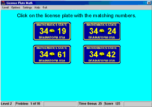 License Plate Math Screenshot