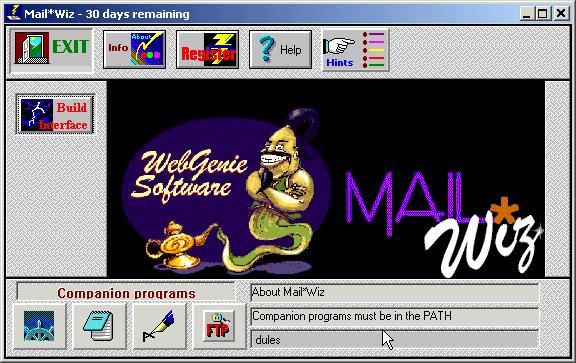 MailWiz Screenshot