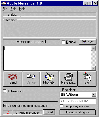 Mobile Messenger Screenshot 1
