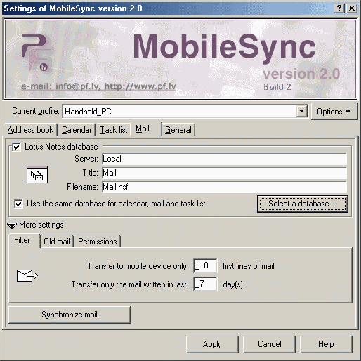 MobileSync Screenshot