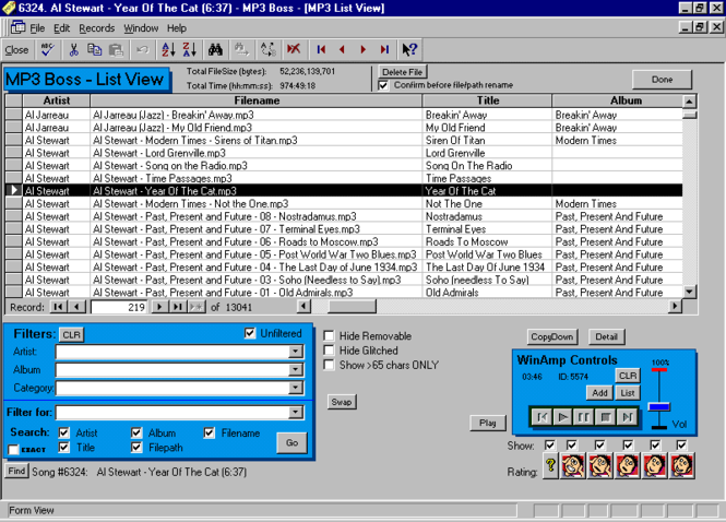 MP3 Boss music database and manager Screenshot 1