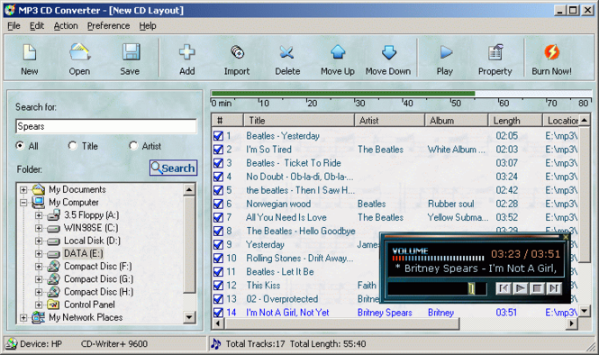MP3 CD Converter Professional Screenshot 1