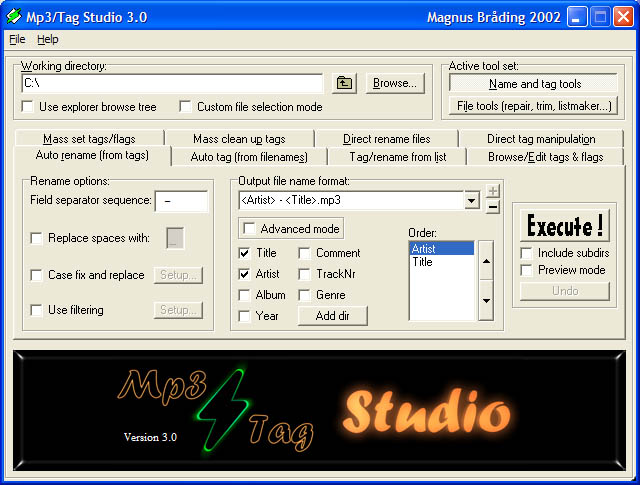 Mp3/Tag Studio Screenshot