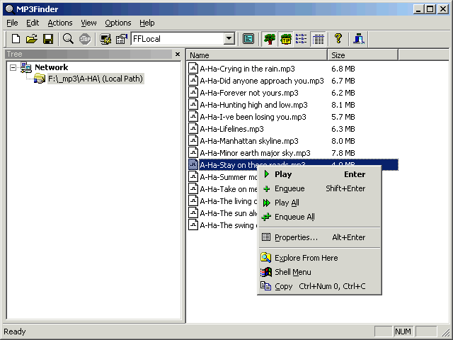 vvvSoft MP3Finder Screenshot