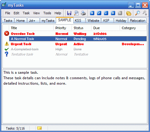 myTasks Screenshot