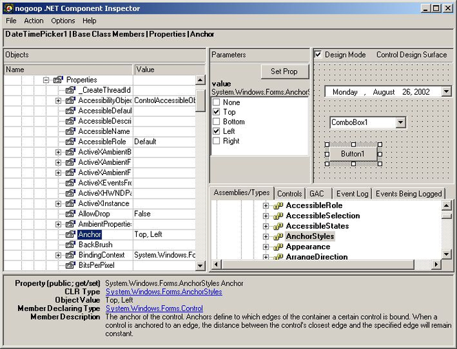 .NET Component Inspector Screenshot 1