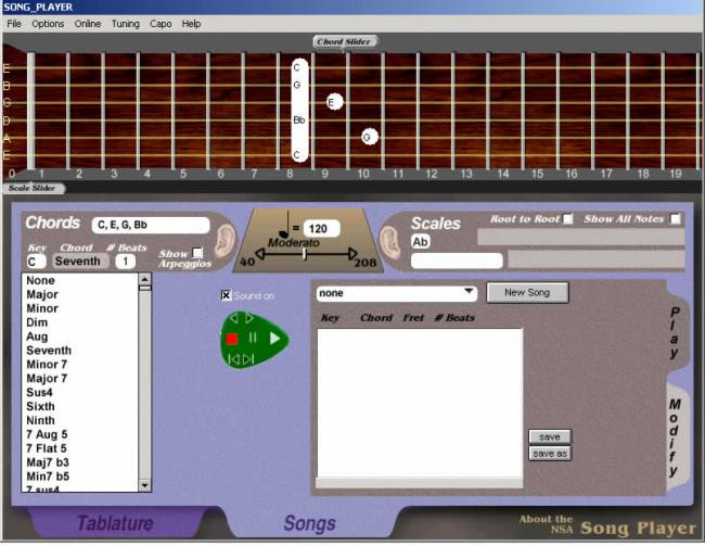 NSA Song Player Screenshot