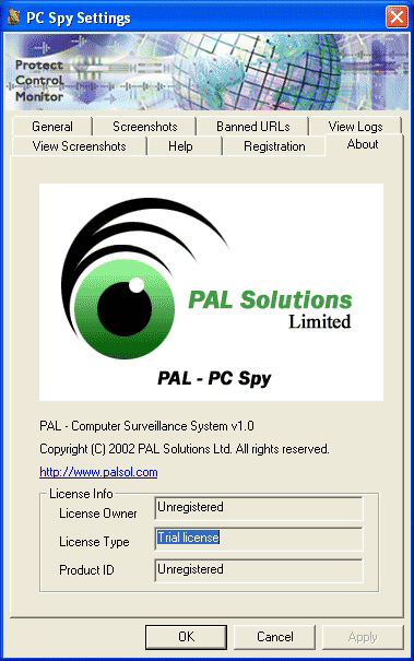 PAL PC SPY Screenshot