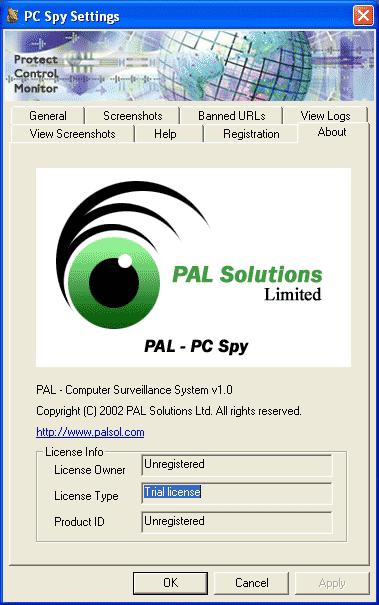 PAL PC SPY Screenshot 1
