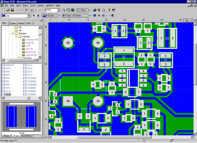 Rimu PCB Screenshot