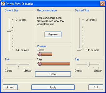 Penis Size-O-Matic Screenshot