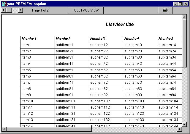 SCML LISTVIEW PRINTER Screenshot