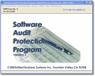 Software Audit Protection Program Screenshot
