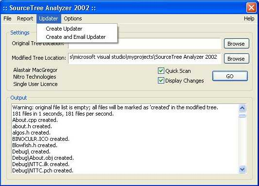 SourceTree Analyzer 2002 Screenshot
