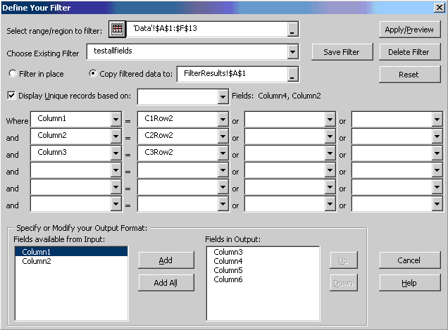 Spinnaker DB Tools for Excel 97 etc Screenshot