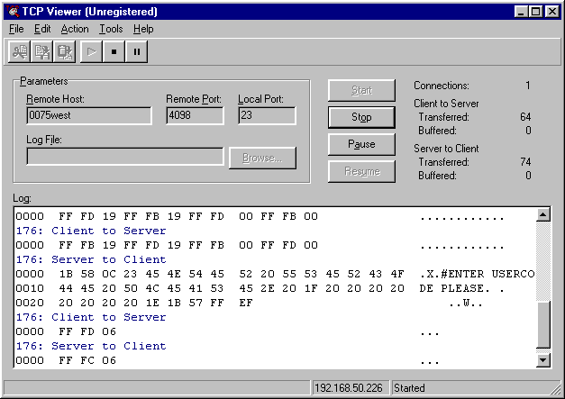 TCP Viewer Screenshot 1