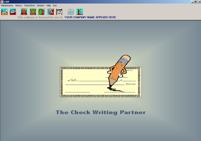 The Check Writing Partner Screenshot